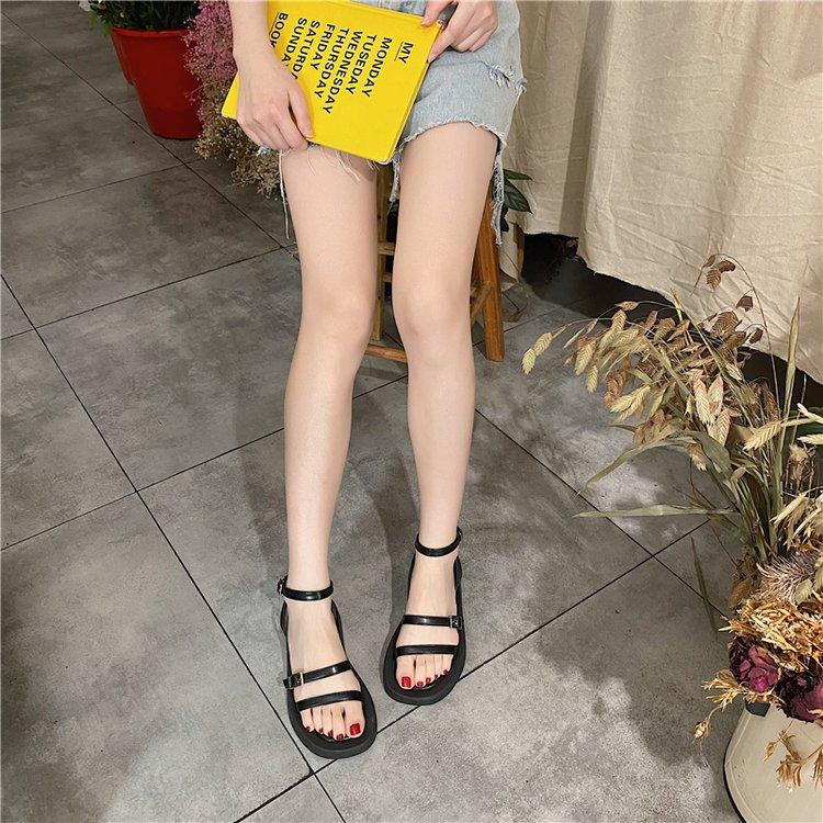 Giày sandal kiểu dáng thời trang phong cách Ulzzang Hàn Quốc cho nữ