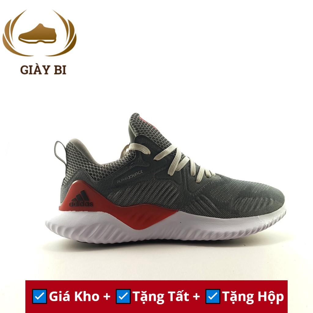 Giày Sneaker Nam Alpha Bounce Beyond Xám/Đỏ