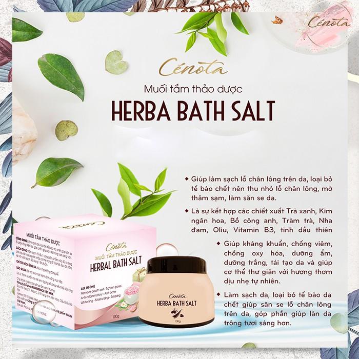 Muối tắm thảo dược tự nhiên, muối tắm làm sạch lỗ chân lông - C02 - Freeship
