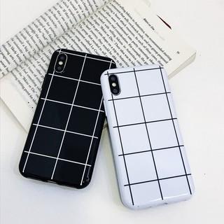 Sale 73% Ốp lưng nhựa mềm họa tiết ô vuông đen/trắng dành cho iPhone, iPhone Xs Max,Black Giá gốc 61000đ – 3G72-1