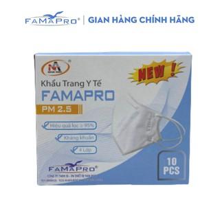 [Mã FMCG8 giảm 8% đơn 250K] Khẩu trang y tế 4 lớp kháng khuẩn Famapro PM2.5 màu trắng (10 CÁI HỘP) thumbnail