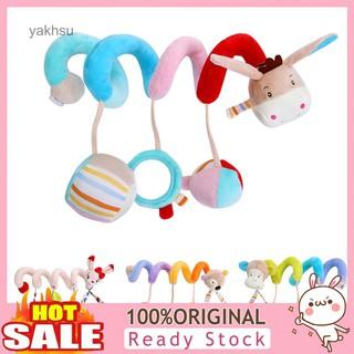 Yak-Lovely Cartoon Animal Spiral Shape Crib Wrap Decor Infant Baby Rattles Toy