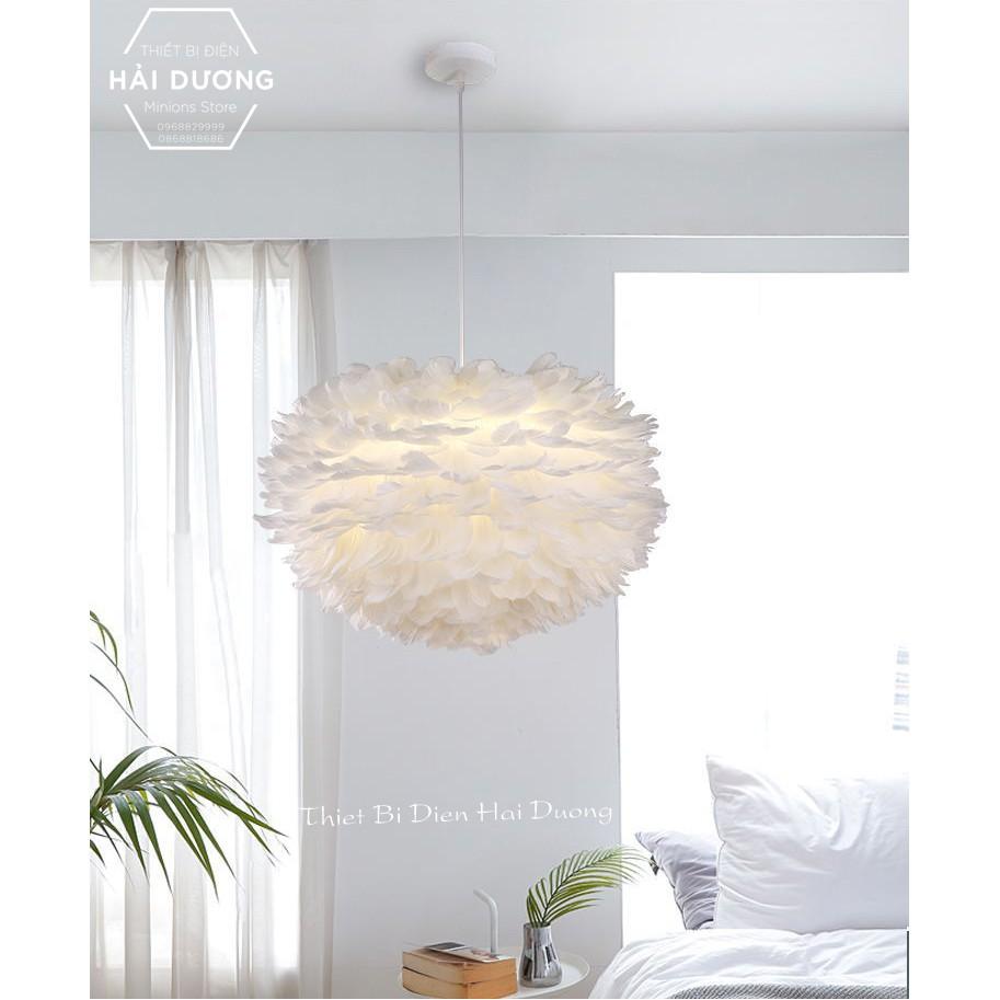 Đèn Chùm Mây lông Vũ Bắc ÂU Decor Lighting TN329 ( Loại Cỡ Nhỏ 30cm) - 3 Chế Độ Ánh Sáng