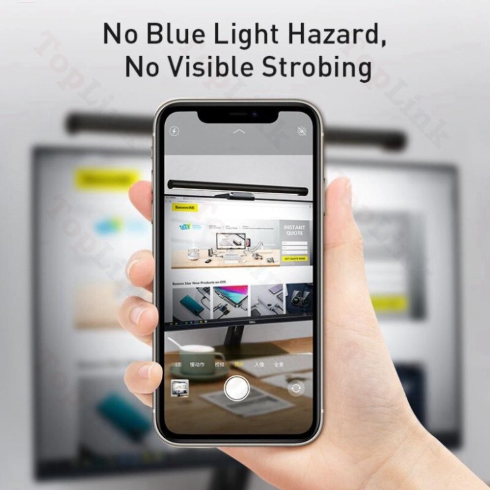 [Bản Pro]  Đèn Kẹp Máy Tính - Đèn LED Để Bàn Đọc Sách Baseus Bảo Vệ Mắt Phù Hợp Màn 5-40mm - TopLink
