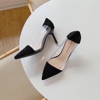 Giày cao gót phối mika gót nhọn 7p mã H30 thumbnail