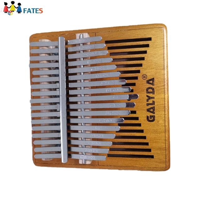 Kalimba 17 Key Mahogany Body Thumb Piano Wooden Color Mbira Musical Instrument