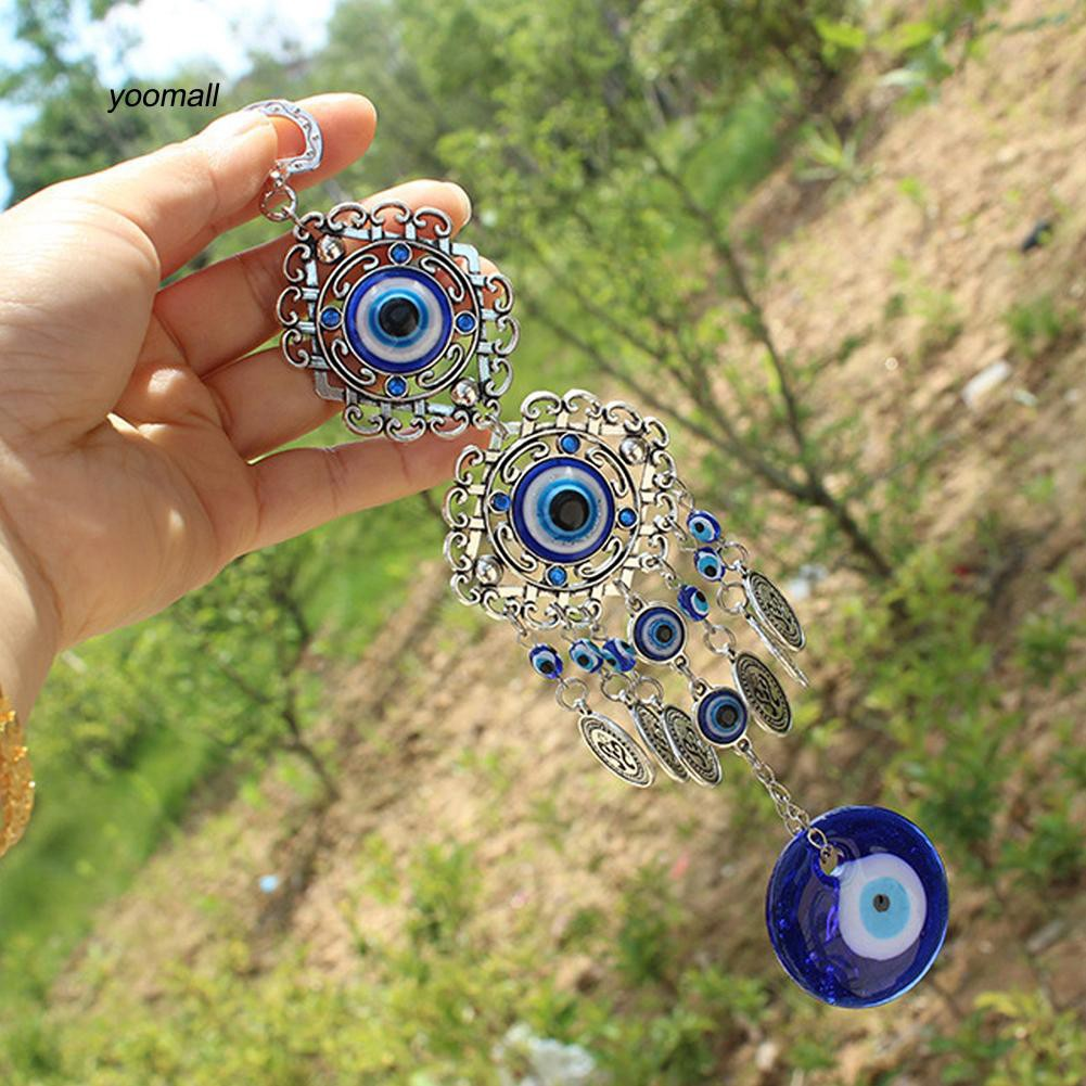 YOML✔Fashion Turkish Blue Evil Eye Bedroom Ornament Amulet Wall Hanging Lucky Gift
