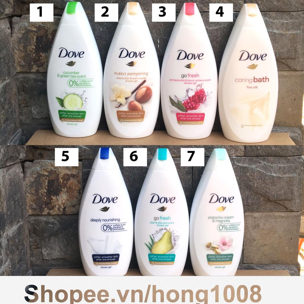 Sữa tắm Dove Đức 500ml - Có nhiều mùi
