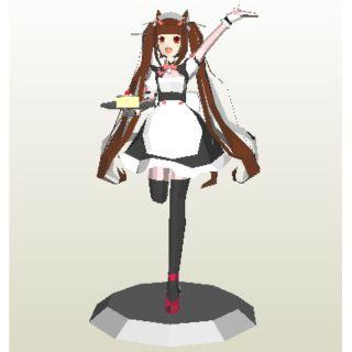 Mô hình giấy anime girl Chocolet [Nekopara (Cats Paradise)]