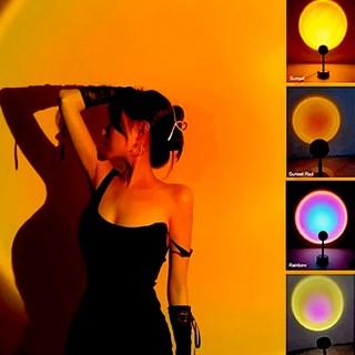 Đèn chụp ảnh LED hiện đại, sunset lamp, hoàng hôn, mặt trời, cầu vồng tiktok trend 2021