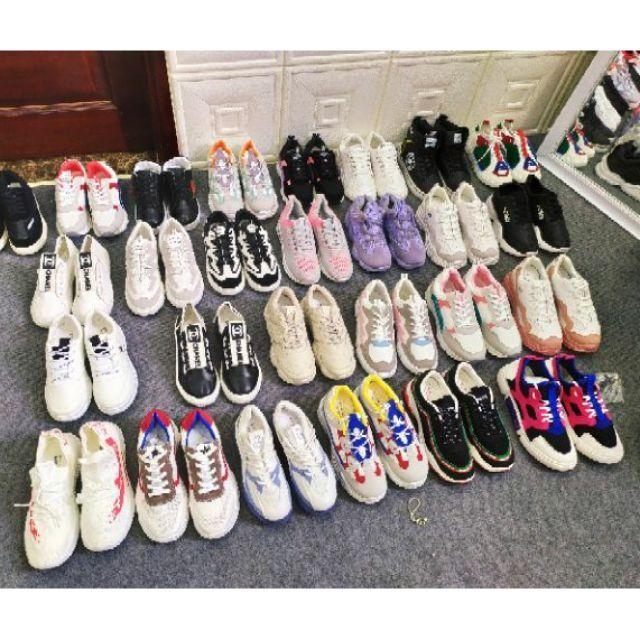 Thanh lí giày trưng bày bám bụi, lẻ size