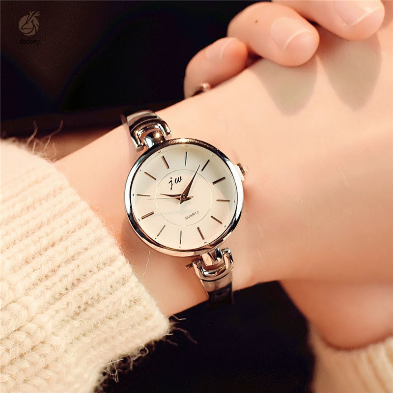 1 Pcs Women Lady Student Wrist Quartz Watch Alloy Strap Round Dial Fashion For Business Party