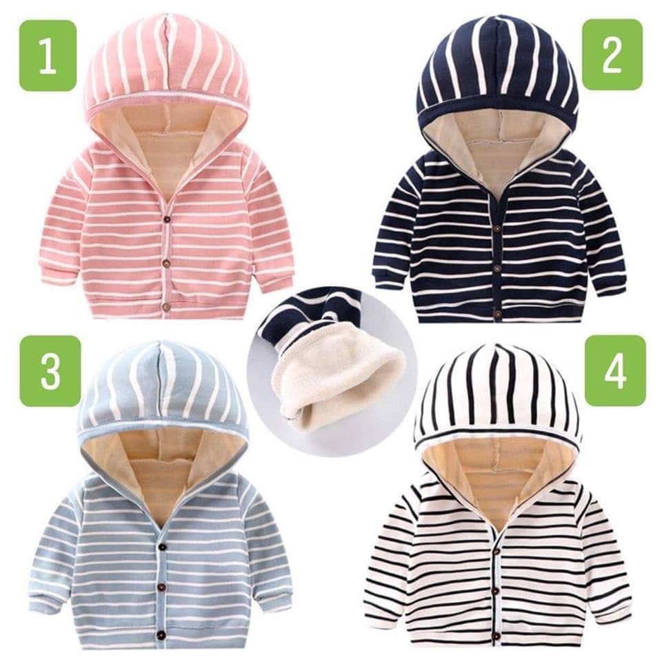 Áo khoác cotton trần bông cho bé