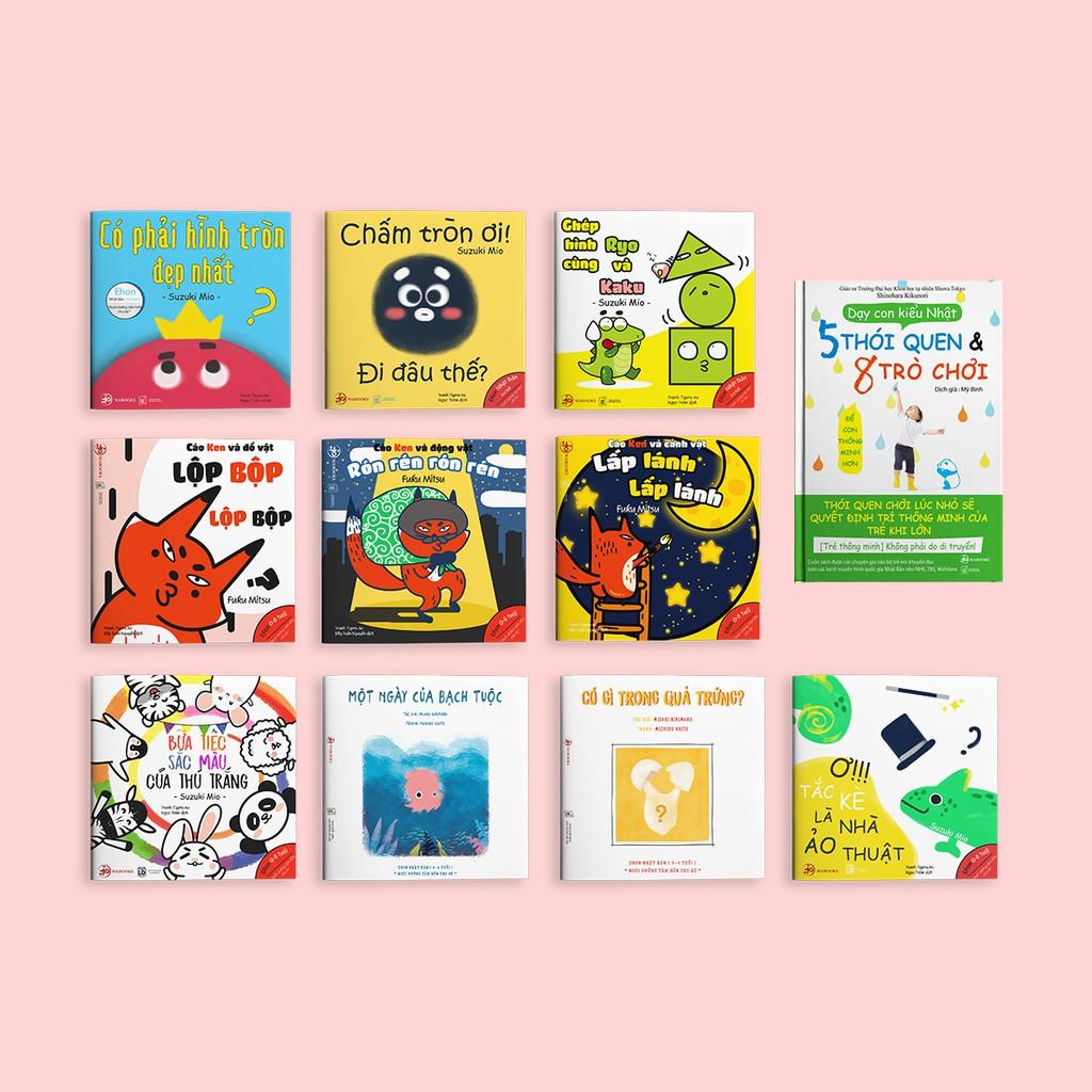 Sách Ehon - Combo 11 cuốn Màu sắc, Âm thanh, Hình khối, Dạy con kiểu Nhật - Dành cho bố mẹ có con 0-6 tuổi