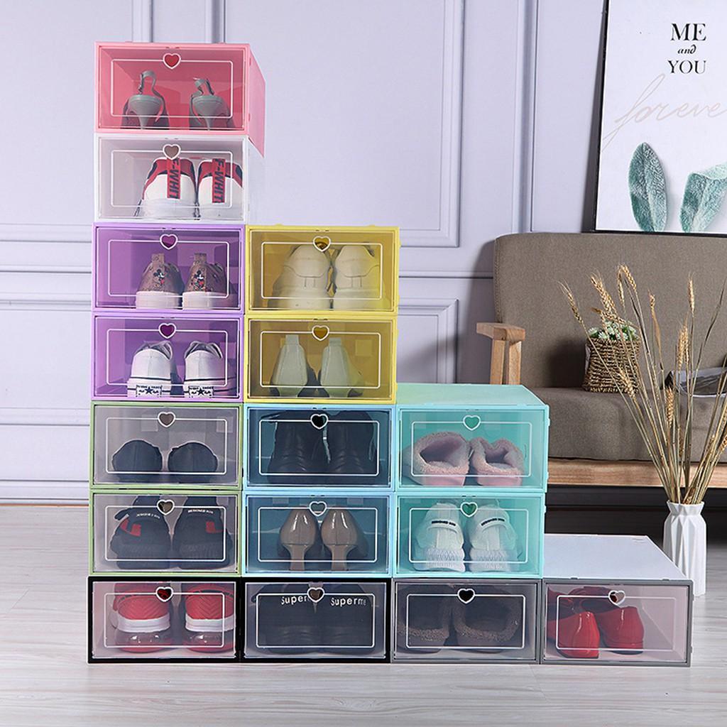Hộp Đựng Giày Nắp Nhựa PP Trong Suốt Cực Chắc Chắn Để Bảo Quản Đôi Giày Của Bạn