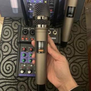 Bộ Mixer Yamaha G4 USB - Mixer Chuyên Karaoke, Livestream, Thu Âm Cao Cấp - Tặng Kèm 2 Micro Không Dây