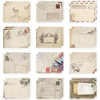 Set 12 Phong Bì Với 12 Kiểu Phong Cách Vintage 4