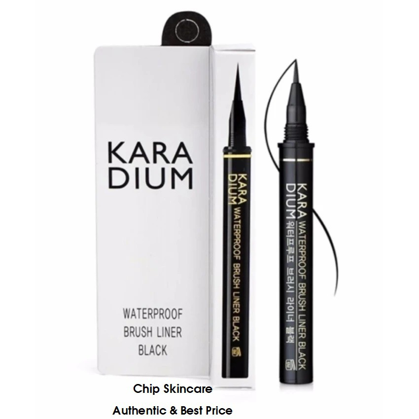 Bút kẻ mắt nước đầu lông Karadium Waterproof Brush Liner Black - 3515749 , 1277160700 , 322_1277160700 , 99000 , But-ke-mat-nuoc-dau-long-Karadium-Waterproof-Brush-Liner-Black-322_1277160700 , shopee.vn , Bút kẻ mắt nước đầu lông Karadium Waterproof Brush Liner Black