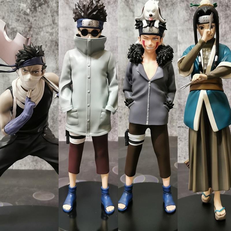 23CM Naruto action figure Aburame Shino/ Inuzuka Kiba Box Model