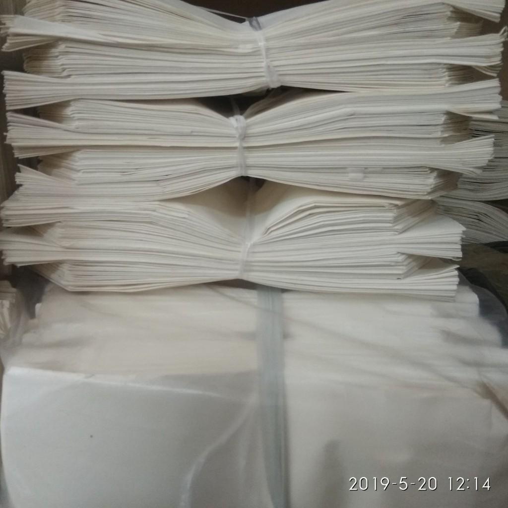 Combo 100 túi giấy trắng đựng thức ăn nhanh 20x20
