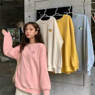 Áo sweater unisex WIND form rộng nỉ Trái Cây nam nữ oversize ulzzang thu đông thumbnail