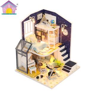 Mô hình nhà gỗ búp bê Shining Star (bộ dụng cụ + mica)