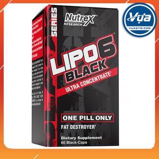 Giảm cân đốt mỡ Nutrex Lipo-6 Black Ultra Concentrate (60 viên) – Authentic 100%