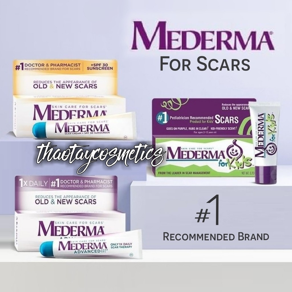 Kem mờ sẹo Mederma Advanced Scar Gel / Scar Cream SPF30 / For Kids (20g)