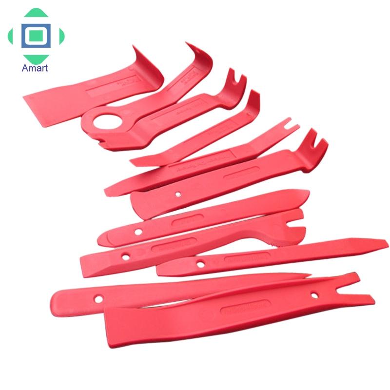 (Shop Amart) Bộ 11 dụng cụ bằng nhựa để sửa chữa và tháo bản lề cửa/ngăn chứa cho xe oto