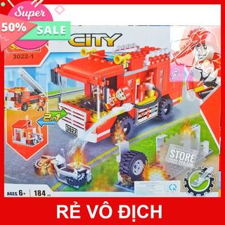 [Hot] LEGO Lắp Ráp Xe Cứu Hỏa COGO 3022-1 ( 184 Mảnh )- Có Sẵn Hàng