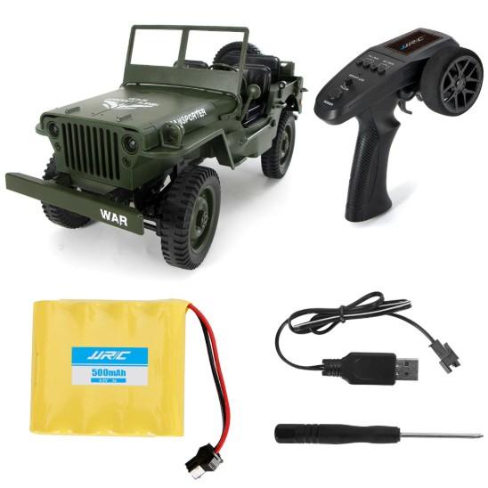 Xe ô tô điều khiển JJRC Q65 - Jeep Transporter 4x4 tỉ lệ 1:10 (Màu xanh bộ đội)