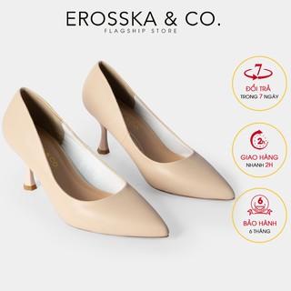 Giày cao gót Erosska thời trang mũi nhọn kiểu dáng cơ bản cao 7cm màu đen _ EP010