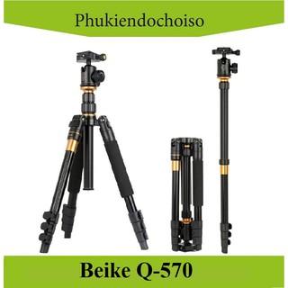 [Mã 159ELSALE hoàn 7% đơn 300K] Chân máy ảnh BEIKE Q-570 (China) . Tặng Da cừu - Da thật thumbnail