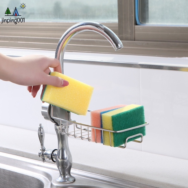 Stainless Steel Drain Rack for Kitchen Faucet Sink Dishcloth Storage