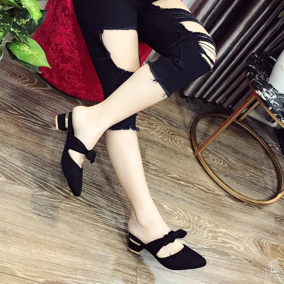 Giày sandal nơ cột thời trang