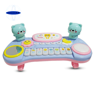 Piano Drum Toy Children Pat Drum Puzzle Early Development Toy,Blue