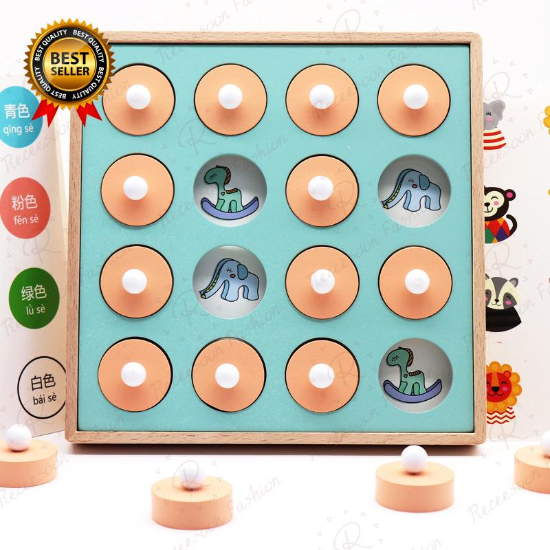Baby Memory Matching Puzzle Card Board Game Toddler Kids Improve Focus Educational Toy Gift