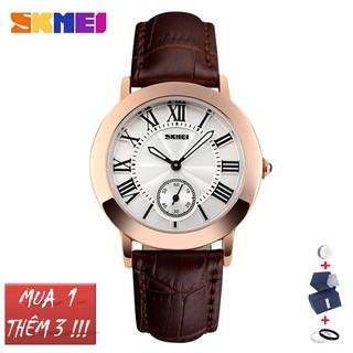 Đồng hồ nữ Skmei 1083 dây da mặt tròn