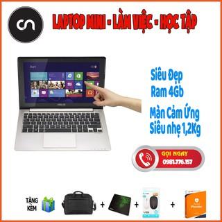 [Siêu Đẹp – Siêu Gọn] Laptop mini 11inch Cảm Ứng Asus X202e Core i3-3217U/Ram 4Gb/Full Nhôm