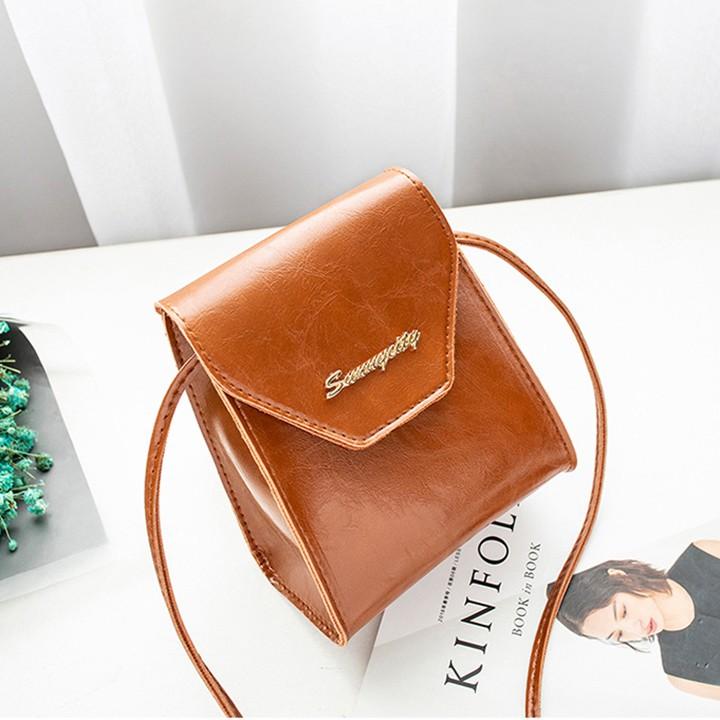 Túi đeo chéo nữ đựng điện thoại dáng hộp phong cách Hàn Quốc-TNX124