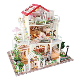 DIY Wooden Assembly Cabin Educational Toys with Light and Music for Children – All The Way