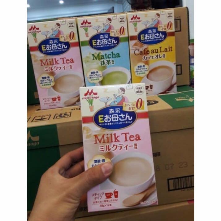 [ DATE T6/19 ] Thùng 12 hộp Morinaga bầu 18g x 12 đủ Trà xanh/ Hồng trà/ Cà phê