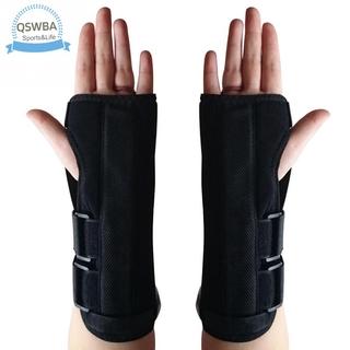 Qswba Wrist Brace Adjust Wristband Support Carpal Tunnel Breathable Forearm Splint Band