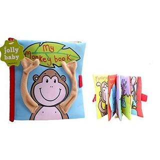 Sách vải hãng Jolly Baby – My Monkey book