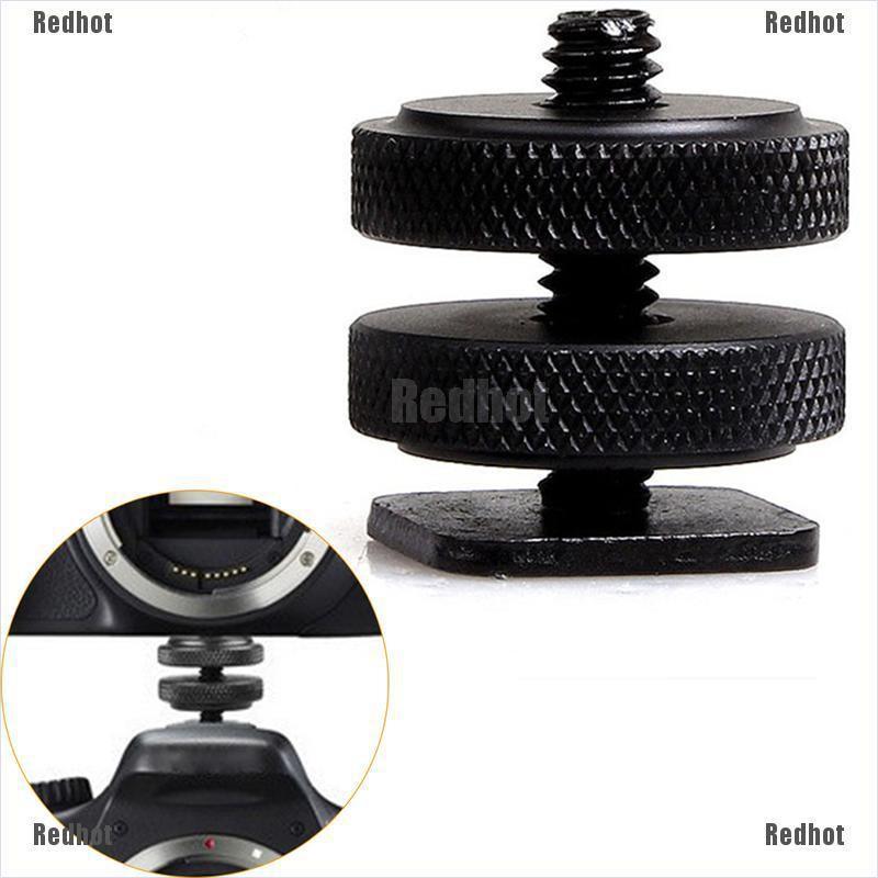 Redhot 1*Metal Pro 1/4 inch Dual Nuts Tripod Mount Screw Flash Camera Shoe Adapter 1 Set