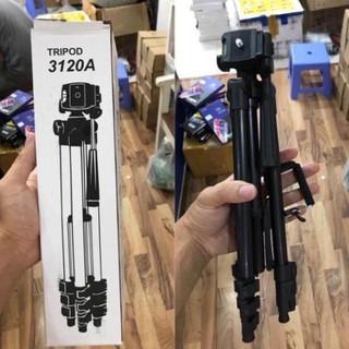 [SIÊU CHẮC] Giá đỡ 3 chân quay phim, livestrem Tripod điện thoại máy ảnh sơn đen