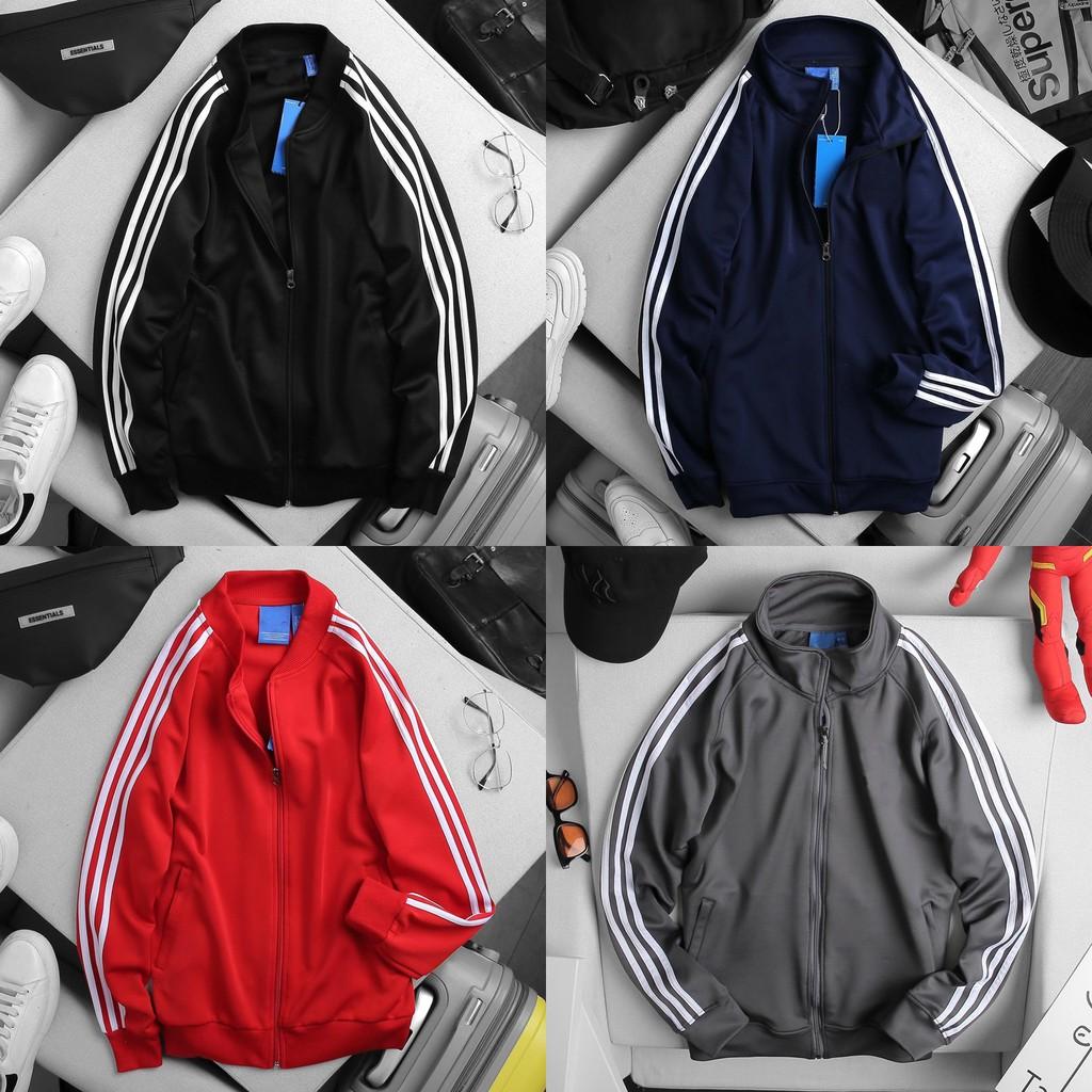 Áo khoác thun poly thể thao 3 sọc ( Hàng xịn xuất dư có nhiều màu )