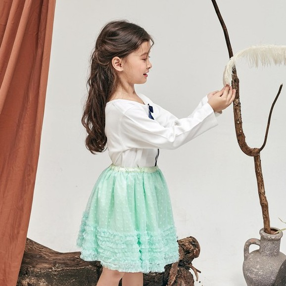 Áo thun gài nút bé gái Amprin AG304