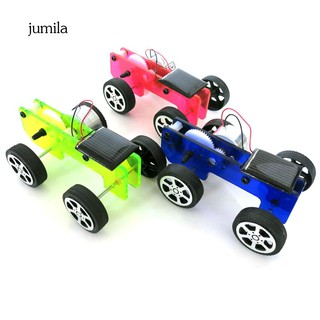 JL_DIY Assembly Mini Solar Panel Car Vehicle Model Kids Experiment Educational Toy
