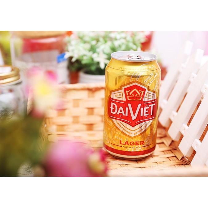 Bia Đại Việt Lager thùng 24 lon x 330ml